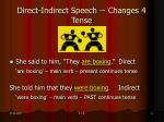 direct indirect speech changes 4 tense
