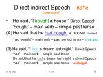 direct indirect speech note continued