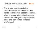 direct indirect speech note