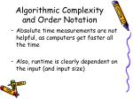 algorithmic complexity and order notation2