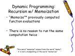 dynamic programming recursion w memoization1