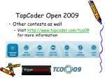 topcoder open 20092