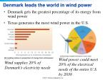 denmark leads the world in wind power