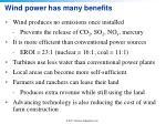 wind power has many benefits