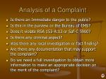 analysis of a complaint