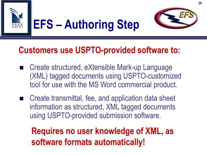 EFS – Authoring Step