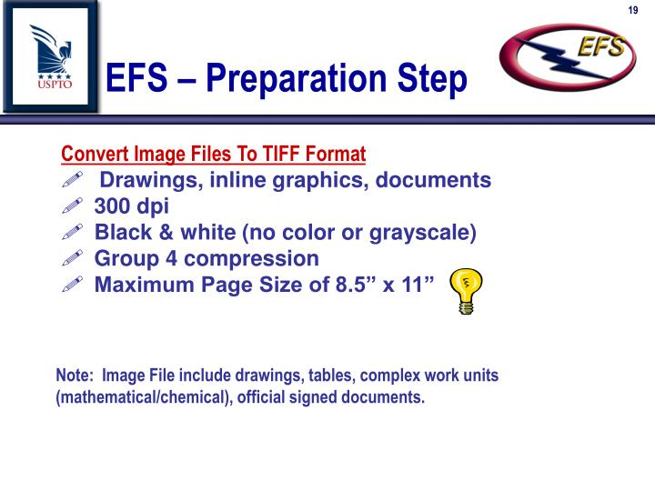 EFS – Preparation Step
