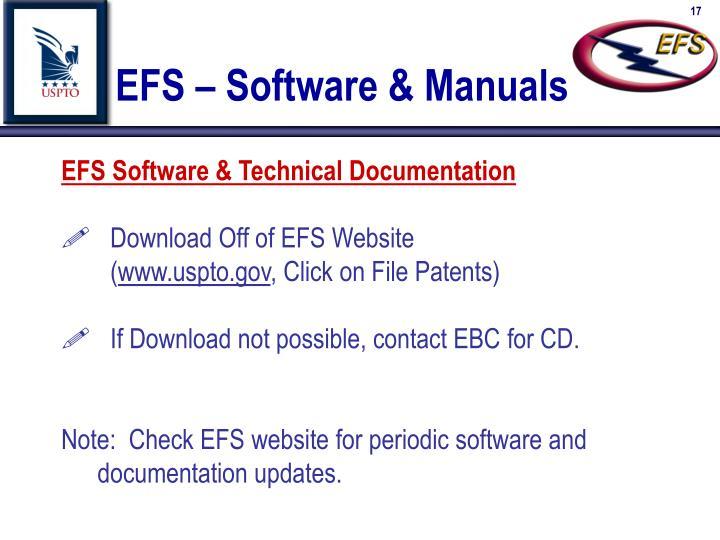 EFS – Software & Manuals