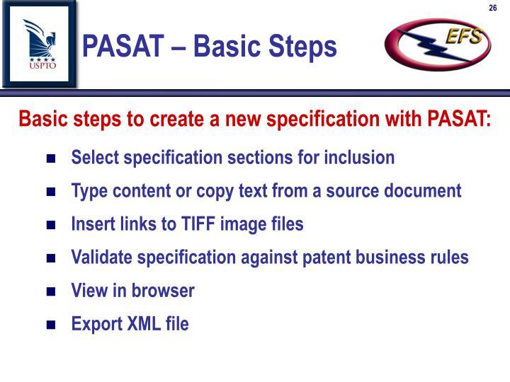 PASAT – Basic Steps