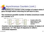 asynchronous counters cont2