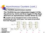 asynchronous counters cont5
