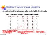 up down synchronous counters