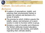 culture socialization and religion