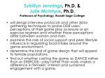 sybillyn jennings ph d julie mcintyre ph d professors of psychology russell sage college