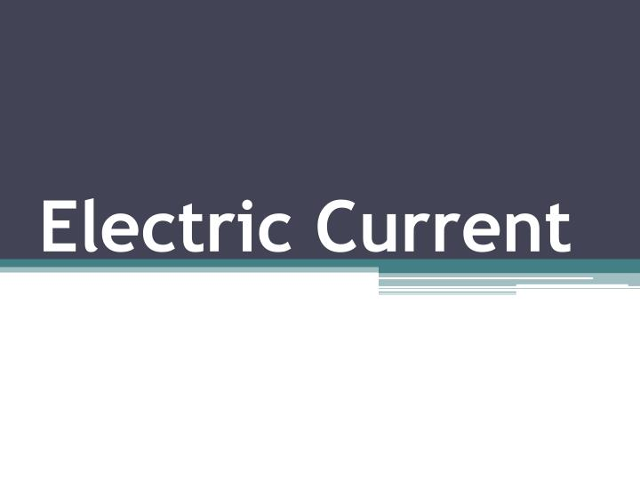 electric current n.