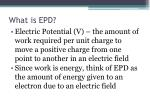 what is epd