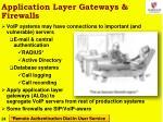 application layer gateways firewalls