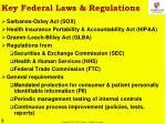 key federal laws regulations