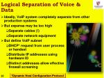 logical separation of voice data
