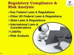 regulatory compliance risk analysis