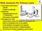 risk analysis 4 privacy laws