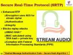 secure real time protocol srtp