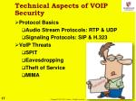 technical aspects of voip security