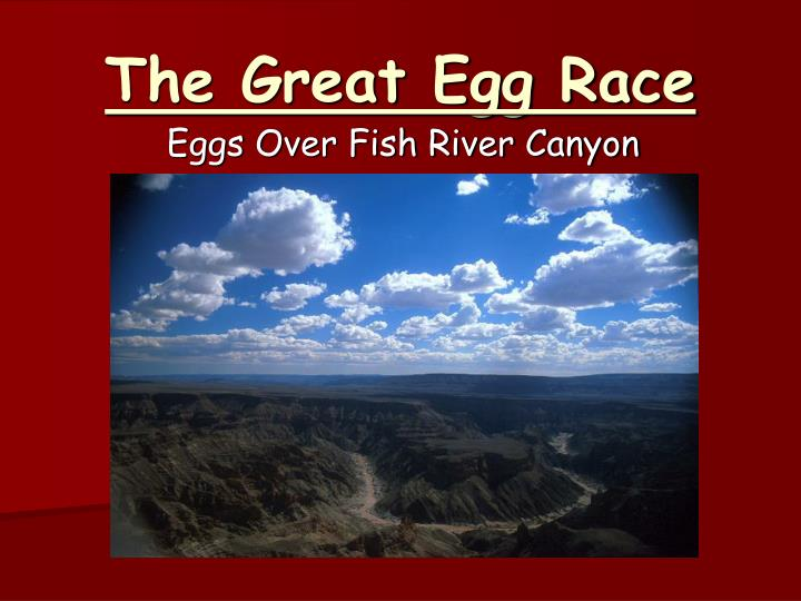 the great egg race n.