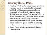 country rock 1960s