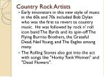 country rock artists