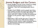 jimmie rodgers and the carters