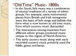 old time music 1800s