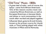 old time music 1800s1