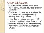 other sub genres