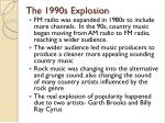 the 1990s explosion