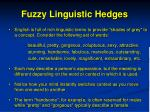 fuzzy linguistic hedges1