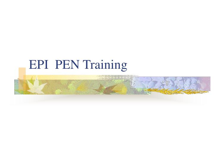 epi pen training n.