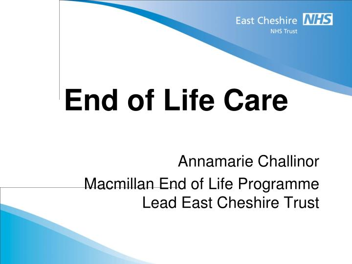 end of life care n.