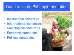constrains in ipm implementation