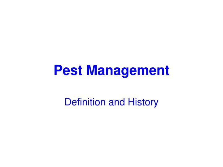 pest management n.