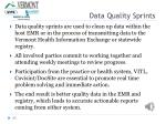 data quality sprints