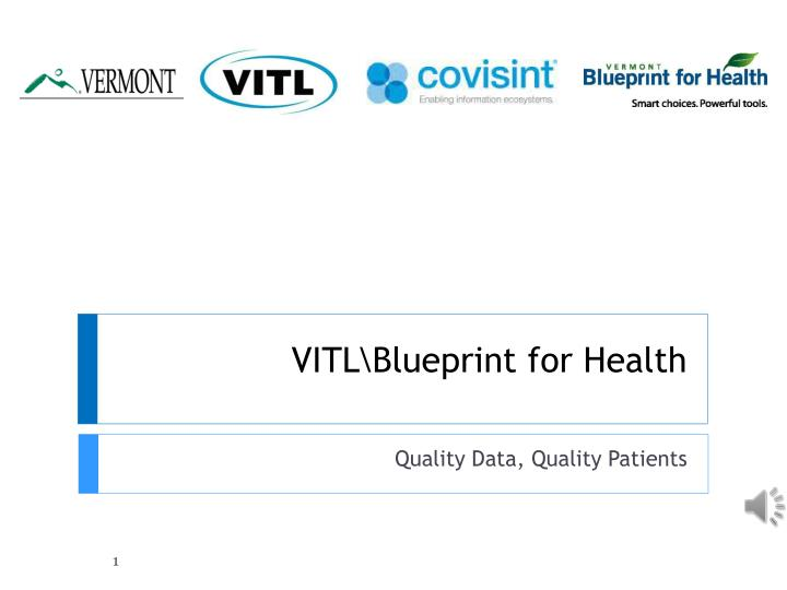 vitl blueprint for health n.