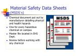 material safety data sheets msds s