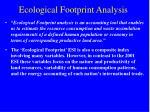 ecological footprint analysis