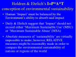 holdren ehrlich s i p a t conception of environmental sustainability
