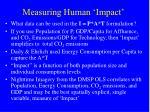 measuring human impact