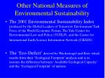 other national measures of environmental sustainability