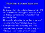 problems future research