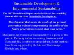 sustainable development environmental sustainability
