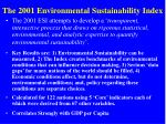the 2001 environmental sustainability index